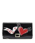 Love Tattoo Mini Buckle Wallet-on-Chain, Black