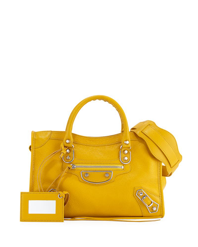 Edge City Small Tote Bag, Yellow