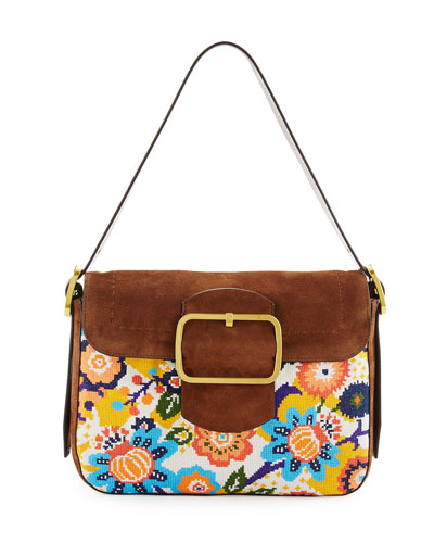 Sawyer Needlepoint Shoulder Bag