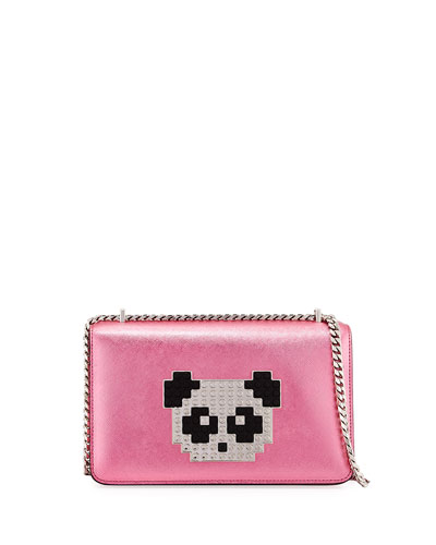 Mini Janis Panda Crossbody Bag, Pink