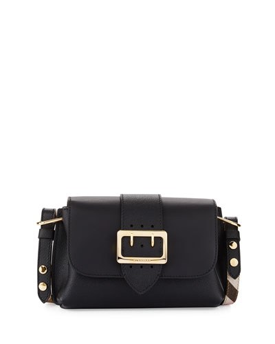 Medley Small Buckle Crossbody Bag, Black