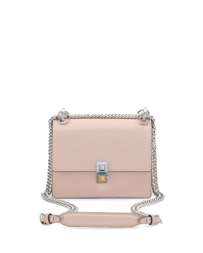 Kan I Mini Leather Chain Shoulder Bag, Beige