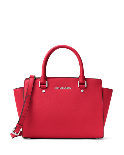 Selma Medium Top-Zip Satchel Bag