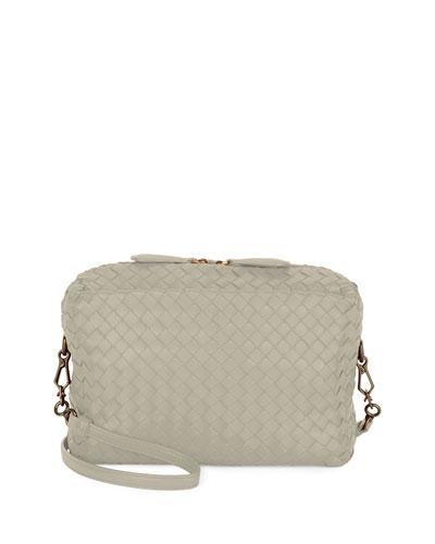 Bottega Veneta Shoulder bags SMALL INTRECCIATO CAMERA BAG, GRAY