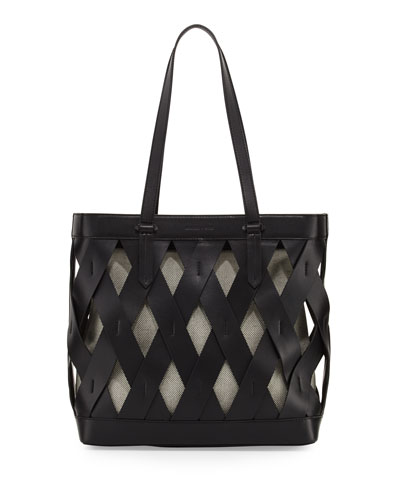 Dina Caged Tote Bag, Black