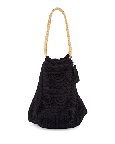 Allison Crocheted Lace Beach Tote Bag