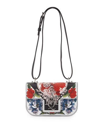 Insignia Printed Flap Crossbody Bag, Multi