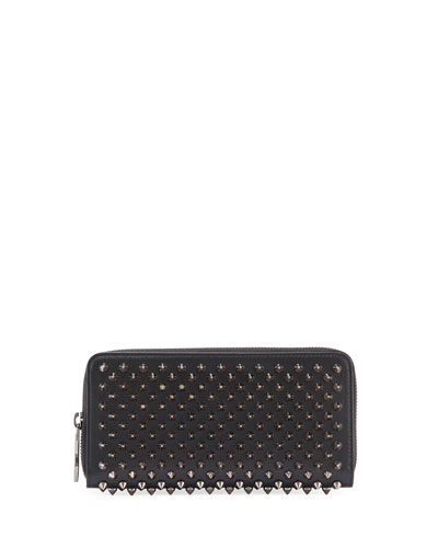 Macaron Spiked Floral Flap Wallet