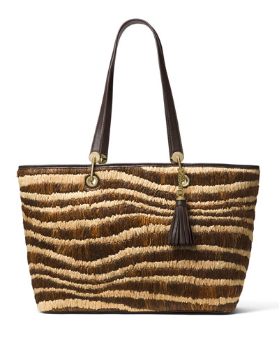 Malibu Large East-West Top-Zip Tote Bag