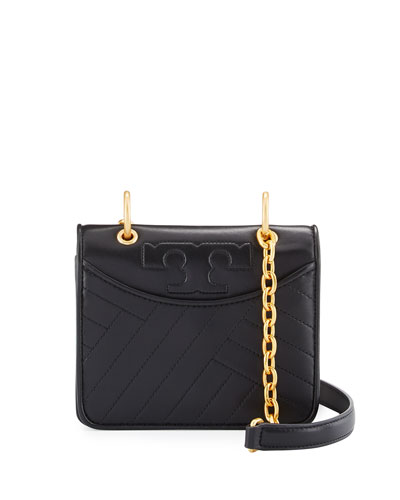 Alexa Mini Quilted Chain Shoulder Bag