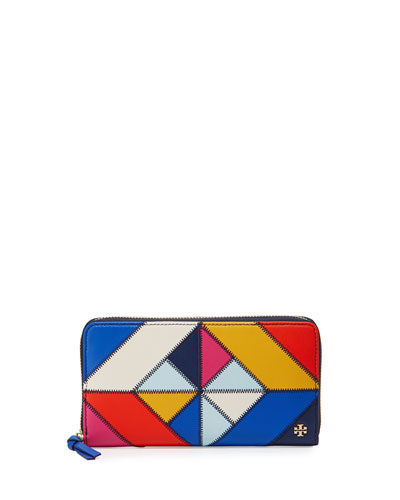Diamond Stitch Continental Wallet, Multi