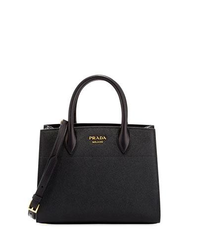 Medium Saffiano Accordion Tote Bag