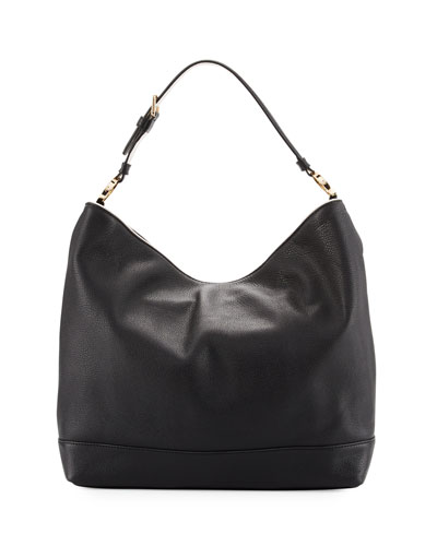 Duet Leather Hobo Bag
