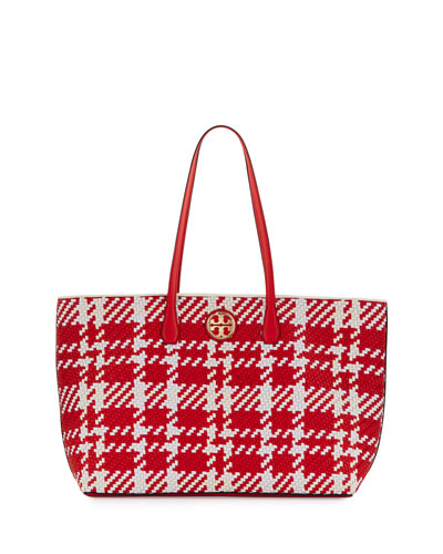 Duet Woven Leather Tote Bag