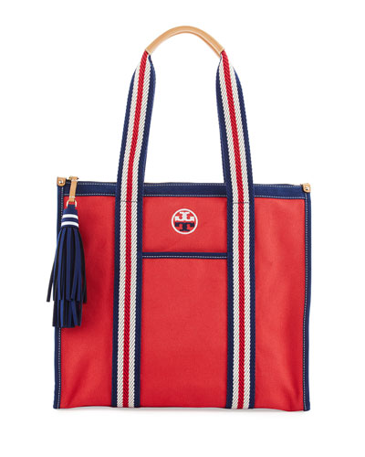 Embroidered-T Tote