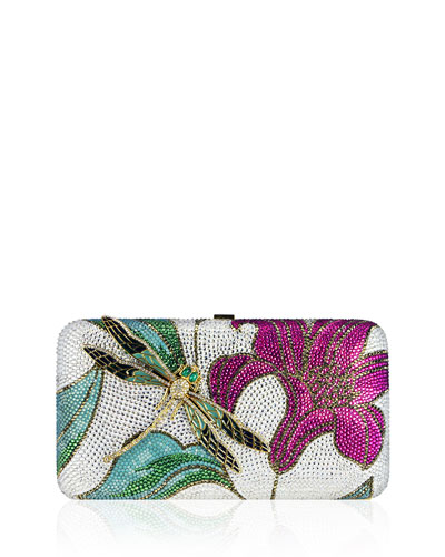 Lily & Dragonfly Crystal Minaudiere