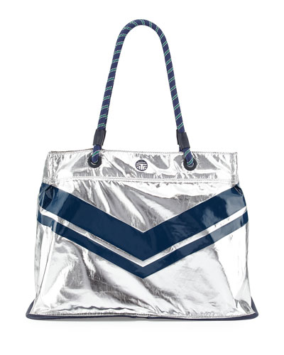 Packable Nylon East-West Tote Bag