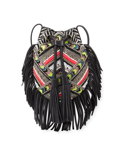 Wonder Beaded Fringe Crossbody Bag