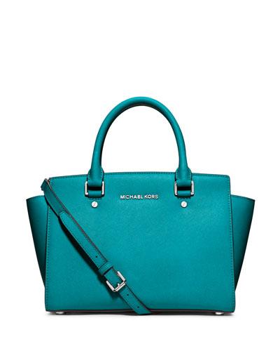 Selma Medium Zip-Top Satchel Bag