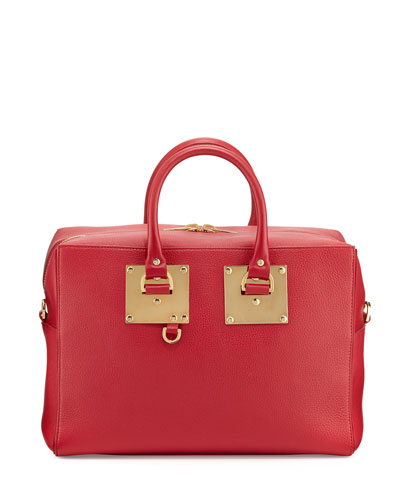 Cromwell Leather Bowling Bag, Cherry