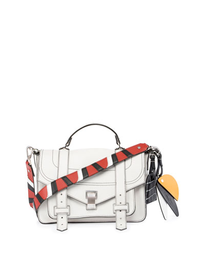PS1 Medium Patchwork-Strap Satchel Bag