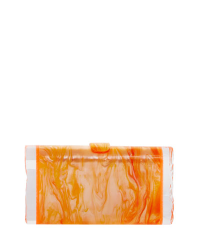 Lara Backlit Resin Clutch Bag