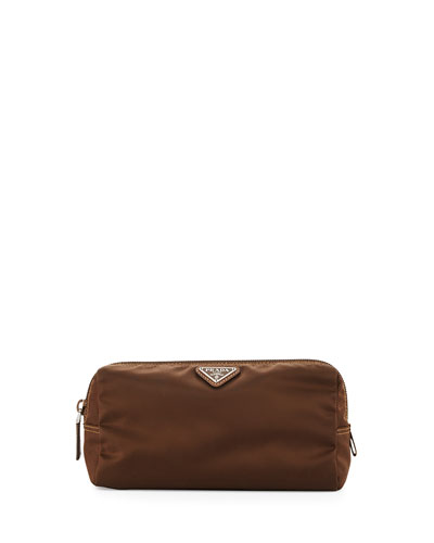 Small Vela Cosmetic Bag, Tobacco