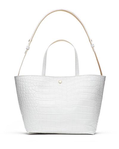 Eloise Crocodile-Embossed Tote Bag