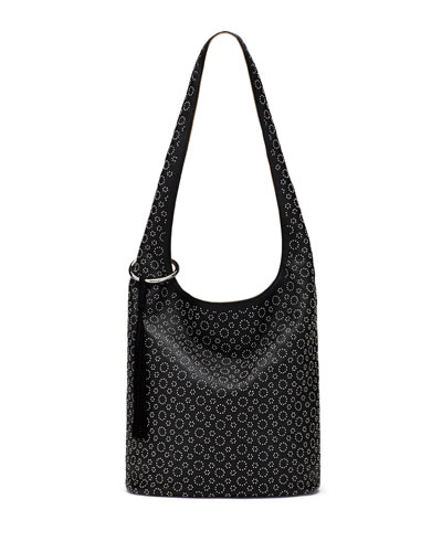 Finley Courier Studded Hobo Bag, Black