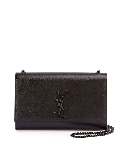 Kate Monogram Grain Leather Medium Chain Bag, Black