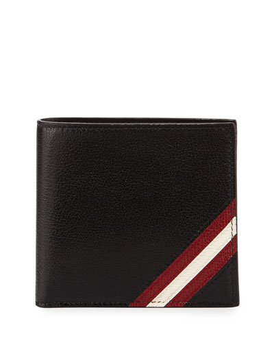 Capsule Leather Bi-Fold Wallet, Black