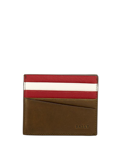 Talbyn Men's Leather Card Holder, Green