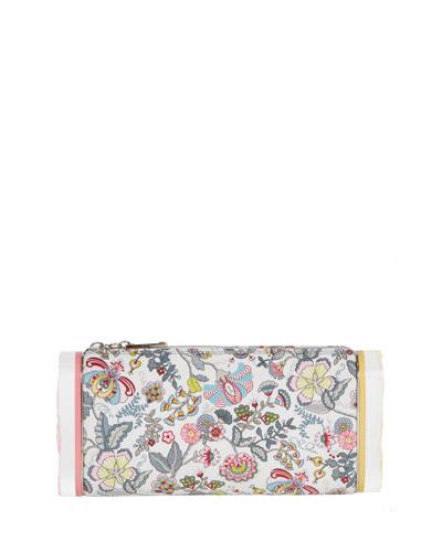 Lara Soft Floral Clutch Bag, Pink