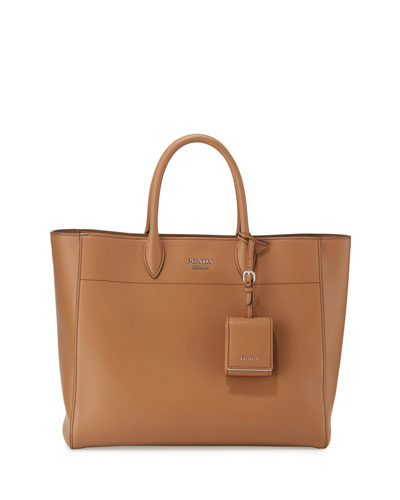 City Calf Tote Bag, Caramel (Caramello)