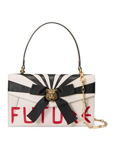 Future Bow Top-Handle Bag, White/Red