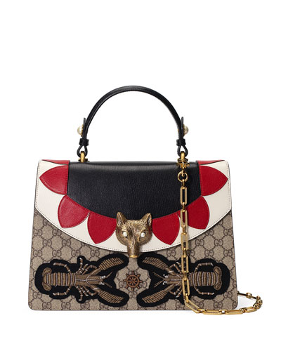 Broche GG Supreme Top-Handle Bag