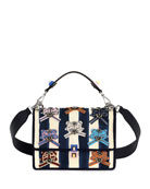 Kan I Pequin Watercolor Shoulder Bag, Blue/Pink