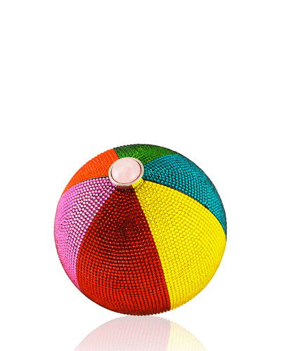 Beach Ball Sphere Crystal Clutch Bag, Multi