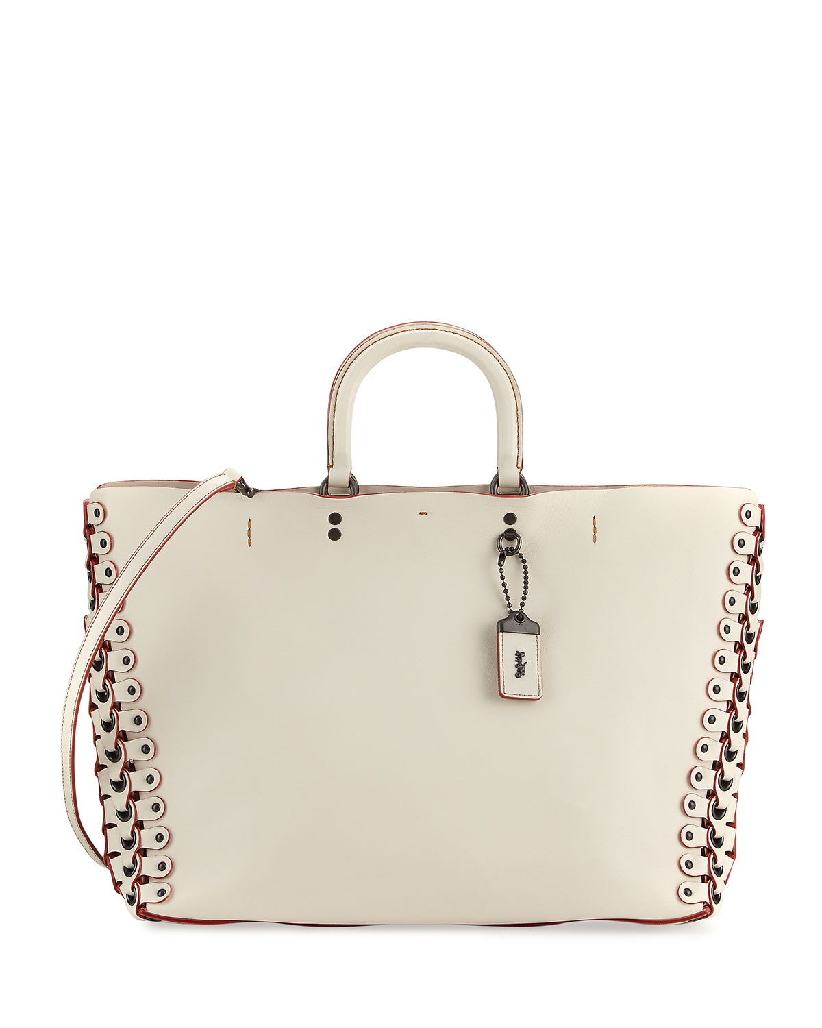 Rogue Leather Tote Bag, White