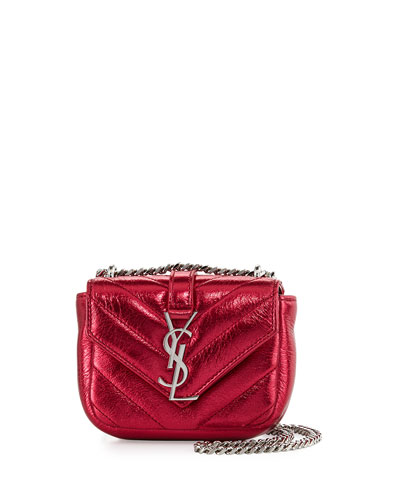 Monogram Micro Quilted Leather Crossbody Bag, Elect