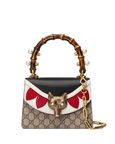 Broche GG Supreme Mini Bag, Neutral/Multi