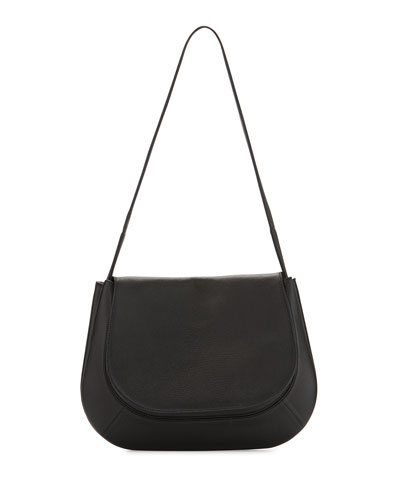 Fan Bag 12 Leather Shoulder Bag, Black