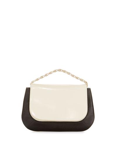 Fan Bag 10 Chain Shoulder Bag, Black/White