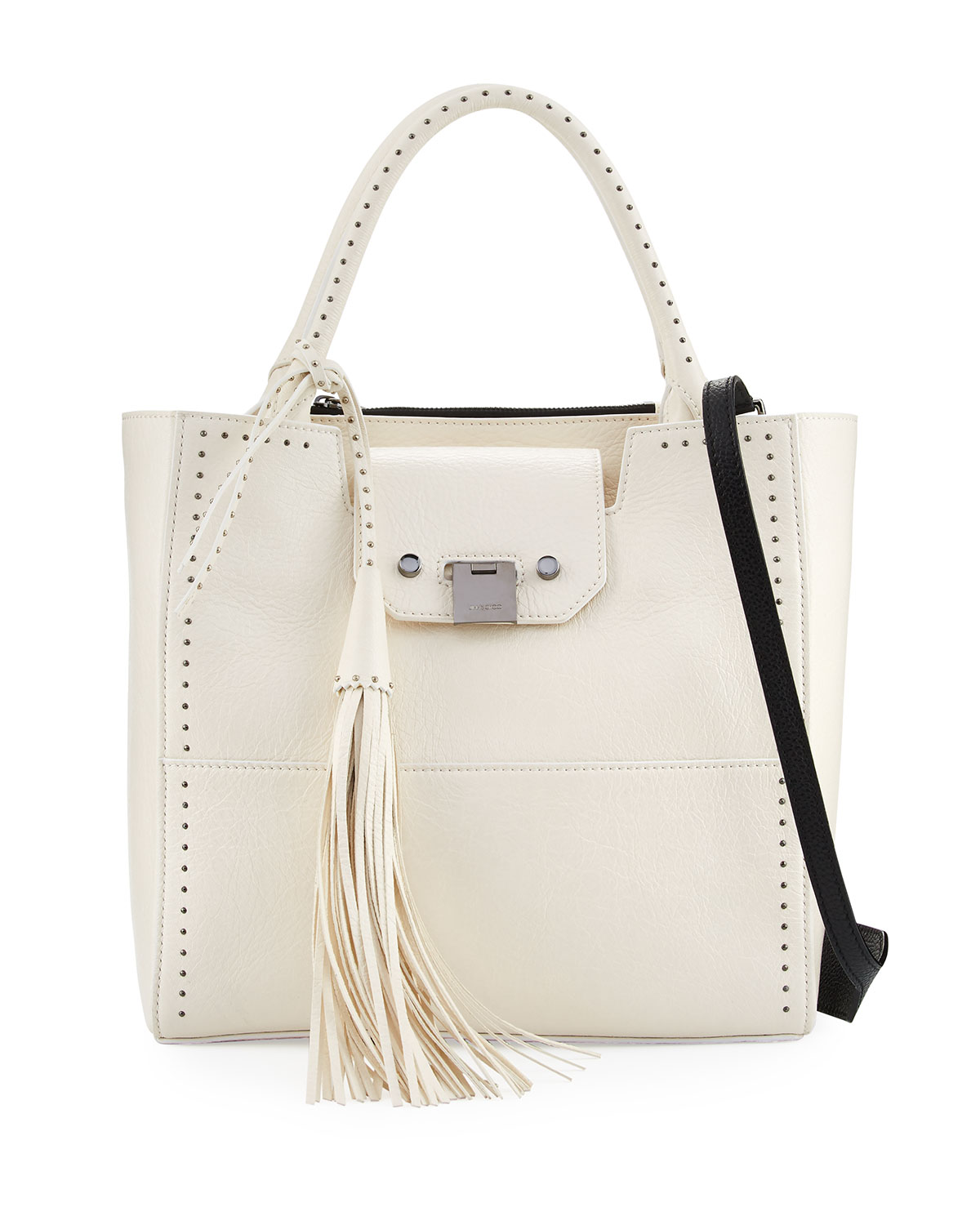 Robin Studded Leather Tote Bag, White