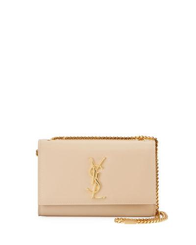 Kate Monogram Small Grain Leather Crossbody Bag, Beige