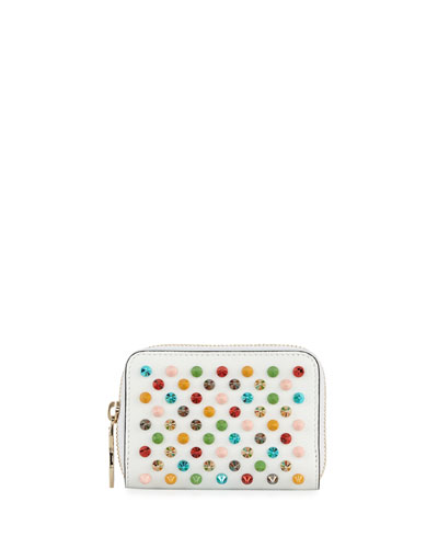 Panettone Spiked Coin Purse, White/Multi