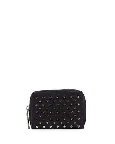 Panettone Spiked Coin Purse, Black/Gunmetal