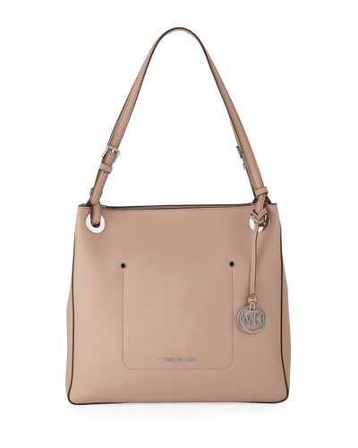 Walsh Medium Saffiano Tote Bag, Beige