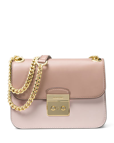 Sloan Editor Medium Tricolor Shoulder Bag, Pink/Multi
