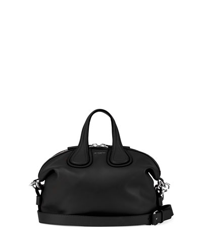 Nightingale Small Calf Crossbody Bag, Black